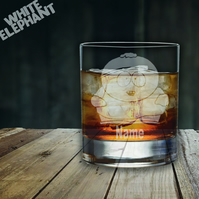 Laser Etched Personalised South Park Cartman Whiskey-Highball-Pint-Tankard Glass