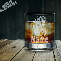 Laser Etched Personalised Iron Man Whiskey-Highball-Pint-Tankard Glass