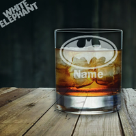 Laser Etched Personalised Batman DC Whiskey-Highball-Pint-Tankard Glass