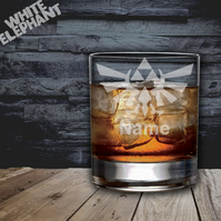 Laser Etched Personalised Zelda Whiskey-Highball-Pint-Tankard Glass