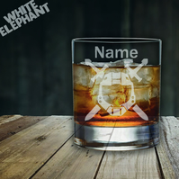 Laser Etched Personalised Halo Sword Whiskey-Highball-Pint-Tankard Glass
