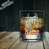 Laser Etched Personalised Spiderman Whiskey-Highball-Pint-Tankard Glass