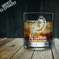 Laser Etched Personalised Captain America Whiskey-Highball-Pint-Tankard Glass