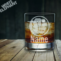 Laser Etched Personalised Hulk Whiskey-Highball-Pint-Tankard Glass