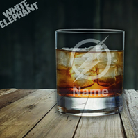Laser Etched Personalised Flash Whiskey-Highball-Pint-Tankard Glass