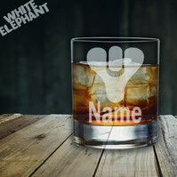 Laser Etched Personalised Destiny Whiskey-Highball-Pint-Tankard Glass