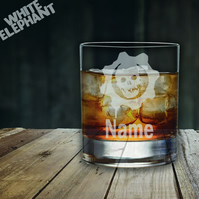 Laser Etched Gears of War Whiskey-Highball-Pint-Tankard Glass