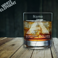Laser Etched Personalised Ark Survival Whiskey-Highball-Pint-Tankard Glass