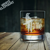 Laser Etched Personalised HP Sorting Hat Whiskey-Highball-Pint-Tankard Glass
