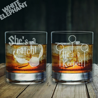 Laser Etched Harry Potter Set Whiskey-Highball-Pint-Tankard Glass
