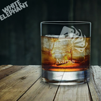 Laser Etched Personalised Poker Whiskey-Highball-Pint-Tankard Glass