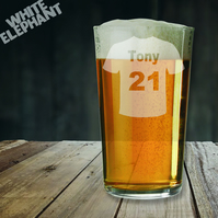 Laser Etched Birthday Sports Top Whiskey-Highball-Pint-Tankard Glass