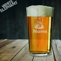 Laser Etched Personalised Zombie Hand Whiskey-Highball-Pint-Tankard Glass