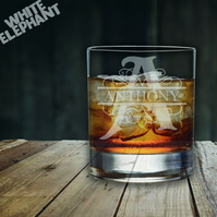 Laser Etched Personalised Monogram Whiskey-Highball-Pint-Tankard Glass