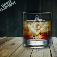 Laser Etched Personalised Masonic Inspired Whiskey-Highball-Pint-Tankard Glass