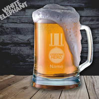 Laser Etched Personalised Lockdown Hero Whiskey-Highball-Pint-Tankard Glass