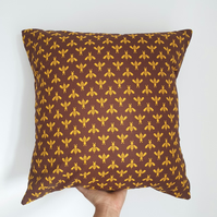 Handmade Brown Bee Cushion Cover