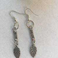 Feather and Chainmail Earrings