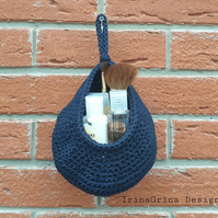 Hanging crochet basket two sizes small and big