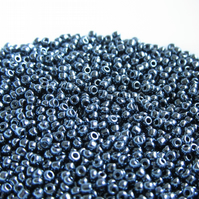 Gunmetal Black Seed Beads 2mm