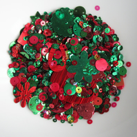 Mixed Red & Green Sequins