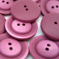 10 x Purple Buttons 2.5cms