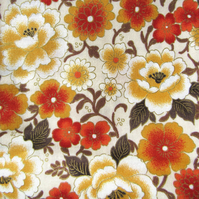 Autumnal Floral Print - Fat Quarter