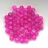 Pink Crackle Beads