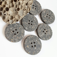 Imitation Stone Buttons, 1 inch x6