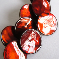 Red MOP Shank Buttons X8