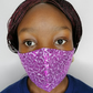 Sparkly Sequin Face Mask- Purple