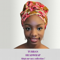 Satin Lined Ankara Bonnet With Tie - Head Wrap