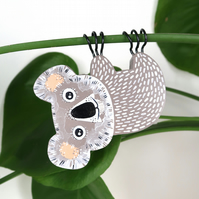 hanging koala plant decoration, crazy plant lady gift, cute animal decor