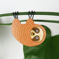 hanging sloth plant decoration, crazy plant lady gift, cute animal decor
