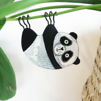 hanging panda plant decoration, crazy plant lady gift, cute animal decor