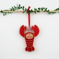 lobster christmas tree hanging ornament, shellfish, cute stocking filler