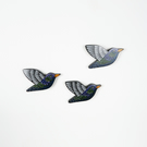 starling wall decor, set of 3, garden bird wall hanging, gift for bird lovers