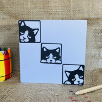 Black cat cards, packs of cat cards, cat birthday cards