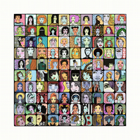 Digital Illustration representing women feminist art print wall art limited Ed
