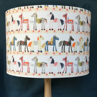 PRETTY PONY LAMPSHADE. 20 CM SIZE. FREE UK MAINLAND DELIVERY.
