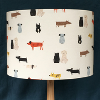 FUN DOGS LAMPSHADE, IN 2 SIZES 20CM AND 30 CM. FREE UK MAINLAND DELIVERY.