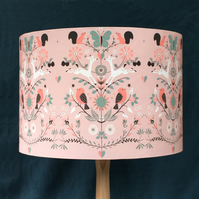 PRETTY FOREST ANIMALS LAMPSHADE. 30CM SIZE. FREE UK MAINLAND DELIVERY.