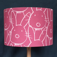 MID PINK BUNNY RABBIT LAMPSHADE 30 CM SIZE FREE UK MAINLAND DELIVERY