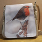 Snowy robin shoulder or cross body bag