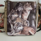 Wolf pack shoulder, cross body bag