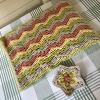 4 hand crocheted placemats and coasters