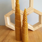 Twisted Beeswax Sheet Candle pair