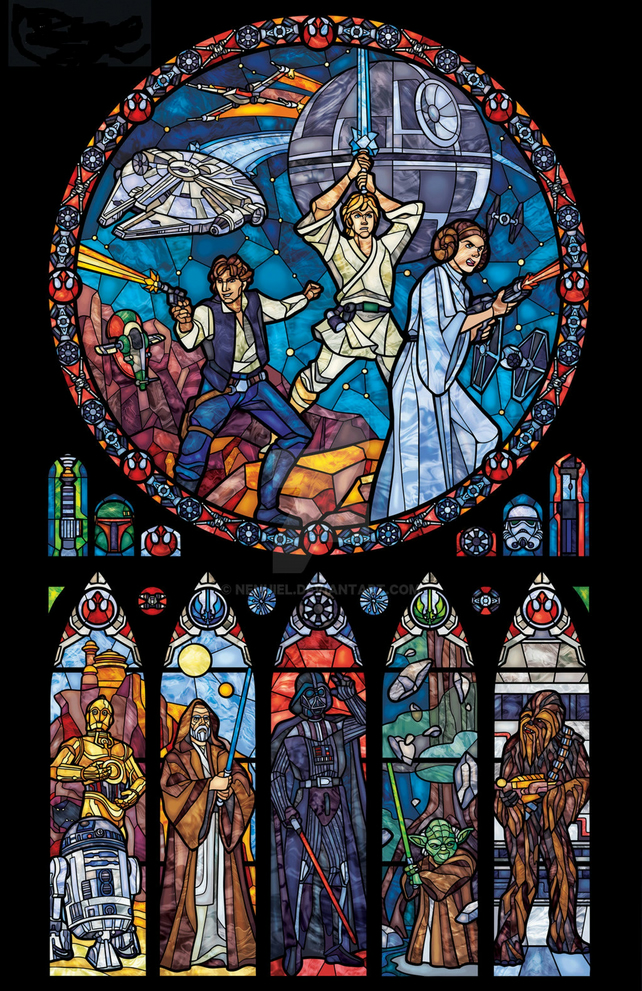 STAR WARS STAINED GLASS COLOURED CHART  CROSS STITCH KIT