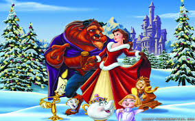 BEAUTY AND THE BEAST (6) COLOURED CROSS STITCH KIT