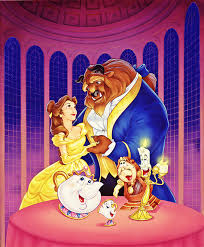 BEAUTY AND THE BEAST (7) COLOURED CROSS STITCH KIT